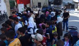 جانب من الفعاليات المقامة في جنوب دمشق للاطفال