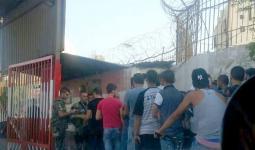 الإجراءات الأمنية على مداخل مخيم عين الحلوة