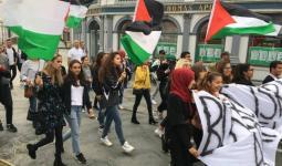 نُشطاء يتظاهرون في الدنمارك لمقاطعة بضائع الاحتلال