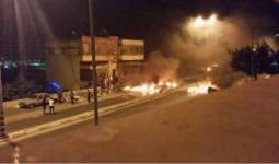 إغلاق الشوارع احتجاجاً على اعتقال أجهزة السلطة شاباً من مخيم بلاطة