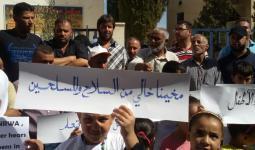 من اعتصامات المدنيين في مخيم خان الشيح