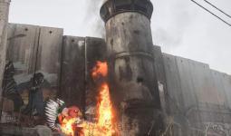 فلسطين المحتلة- المواجهات بين الشبان وقوات الاحتلال في مخيّم عايدة الثلاثاء 25/7/2017