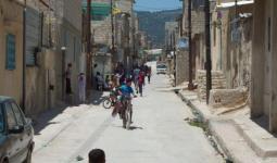 صورة أرشيفية لأحد أزقة مخيم جرش
