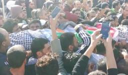 خلال تشييع جثمان الشهيد محمود عودة