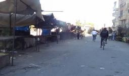 المعبر من جهة مخيم اليرموك بإتجاه بلدة يلدا