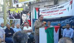 فعالية مساندة للأسرى المضربين في خيمة مخيّم البص