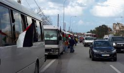 خلال توجه اللاجئين الفلسطينيين الى بلدة مارون الراس الحدودية
