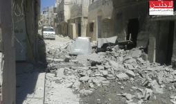 اثار الركام في مخيم درعا