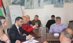 خلال لقاء وفد الاونروا بأعضاء اللجنة الشعبية للاجئين في مخيم جباليا