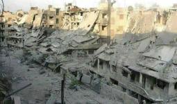 جانب من الدمار في مشروع الوسيم