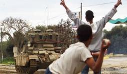 خلال اجتياح مخيّمي البريج والنصيرات للاجئين وسط قطاع غزة في آذار عام 2004