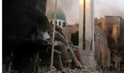 جانب من الدمار في محيط جامع القدس