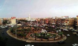مدخل مخيّم اليرموك من جهة حي الزاهرة الدمشقي