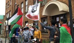 متظاهرون في لندن يدعون لتنظيم أوسع حراك لإسناد الشعب الفلسطيني