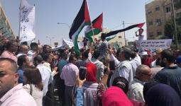 من الاعتصام أمام مقر الأونروا في العاصمة الأردنية عمّان