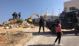 فلسطين المحتلة - من عملية الهدم في قرية الولجة