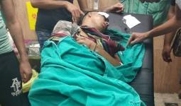 أحد الشبان المصابين من مخيّم بلاطة خلال المواجهات التي اندلعت عقب اقتحام مدينة نابلس