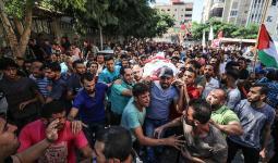 من تشييع جثمان الشهيد محمد أبو ناجي في بيت لاهيا