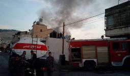 حرائق في منازل بمُخيّم بلاطة على خلفيّة مقتل شاب