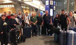 صورة لوفد الكيان الصهيوني لحظة وصوله مطار حمد الدولي للمشاركة في بطولة الجمباز الفني 2018
