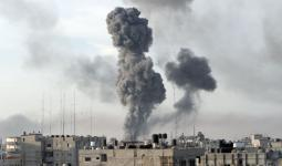 الاحتلال يشن غارات جويّة على قطاع غزة على خلفيّة إطلاق صاروخ