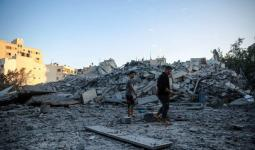 آثار العدوان على قطاع غزة منذ يوم الاثنين، تصوير: عطية درويش