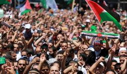 مسيرات ووقفات إسناد لغزّة في مُخيّمي إربد والمحطّة