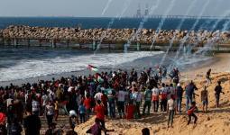 47 مصاباً فلسطينياً في اعتداء الاحتلال على المسير البحري في غزة / الصورة من وكالة شهاب للأنباء