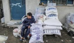 أكثر من مليون لاجئ في قطاع غزة مهددون بنقص الغذاء