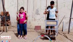 أطفال يحتفلون بعيد الفطر في مخيم برج البراجنة جنوبي بيروت
