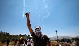 من المواجهات التي اندلعت في نابلس المحتلة اليوم الجمعة 28/6/2019