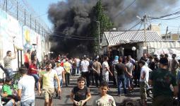 من احتجاجات مخيّم عين الحلوة ضد إجراءات وزارة العمل