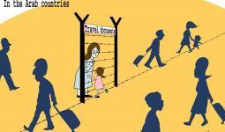 كاريكاتور للفنان الفلسطيني هاني عباس .. ضمن حملة #أنا_لاجئ  #أنا_إنسان