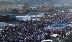 آلاف الفلسطينيين يتظاهرون ضد جرائم القتل داخل الأراضي المُحتلّة عام 1948