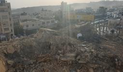 منزل عائلة الشهيد علي خليفة الذي هدمته قوات الاحتلال فجر اليوم في مُخيّم قلنديا