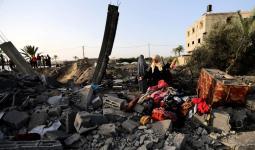 فلسطين المحتلة - من آثار العدوان الصهيوني على قطاع غزة صبيحة الأربعاء 13/11/2019