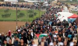 (13) إصابة في مسيرات غزة.. والجمعة القادمة لذكرى العدوان على القطاع