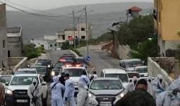 من تشييع جثمان المتوفى الثاني في الضفة الغربية بكورونا - طولكرم