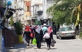 حركة نزوح الأهالي من مخيم عين الحلوة