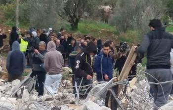 آثار العملية العسكرية التي نفذها الاحتلال في جنين المحتلة