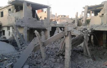 أرشيفية- قصف سابق لمخيّم درعا