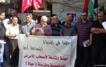 فلسطينيو سوريا يعتصمون في مخيّم البداوي للاجئين شمالي لبنان