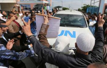 وصول الأمين العام للأمم المتحدة إلى قطاع غزة عبر حاجز بيت حانون بالتزامن مع اعتصام أهالي الأسرى