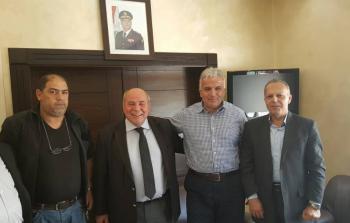 خلال اللقاء مع العميد عدنان غيث قائد مخابرات الجيش اللبناني في الضاحية الجنوبية لبيروت