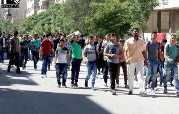خلال عملية خروج الطلاب عبر حاجز بيت سحم