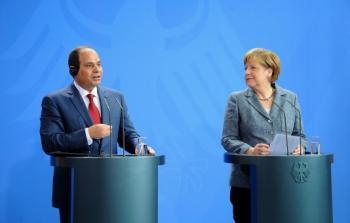 الرئيس المصري عبد الفتاح السيسي والمستشارة الألمانية انجيلا ميركل