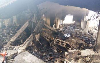 فلسطين المحتلة- آثار تفجير قوات الاحتلال لمنزل الشهيد عادل عنكوش في قرية دير أبو مشعل