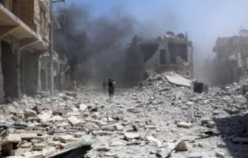 مخيم درعا تحت القصف