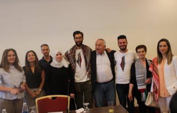 خلال مشاركته في إحدى الندوات حول القضية الفلسطينية بعمان