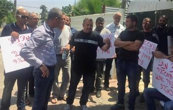 فلسطينيّو اللد المُحتلّة يتظاهرون ضد اعتداءات الاحتلال وقرارات الإخلاء